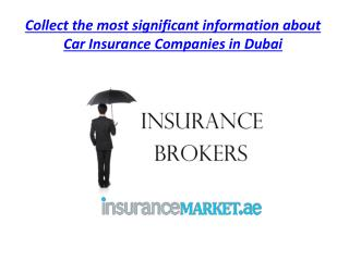 Collect the most significant information about Car Insurance Companies in Dubai