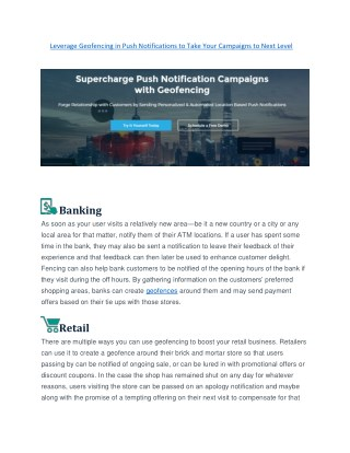 Leverage Geofencing in Push Notifications to Take Your Campaigns to Next Level