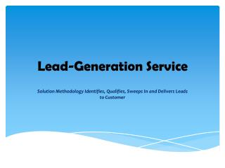 Lead generation economic development