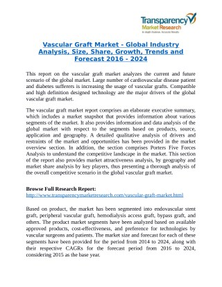Vascular Graft Market Research Report by Key Players Analysis 2024