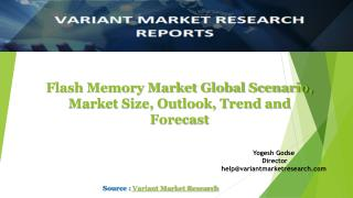 Flash Memory Market Global Scenario, Market Size, Outlook, Trend and Forecast