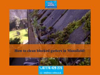 How to clean blocked gutters in Mansfield?