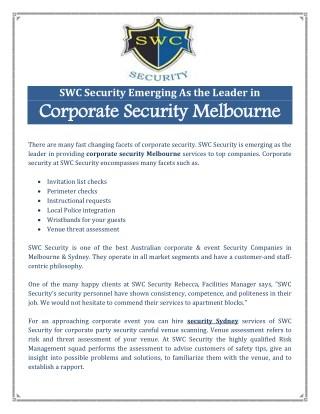 Security Sydney