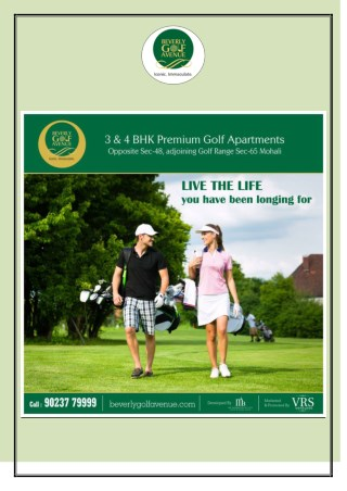 Become owner of luxurious property in Mohai Chandigarh with the help of Beverly Golf Avenue