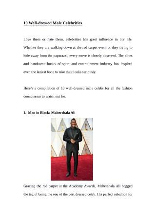 10 Well-dressed Male Celebrities