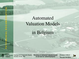 Automated Valuation Models  in Belgium