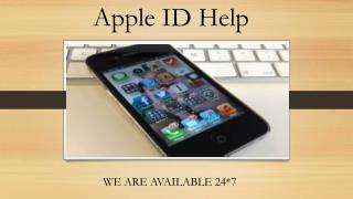 Apple ID Help and Support
