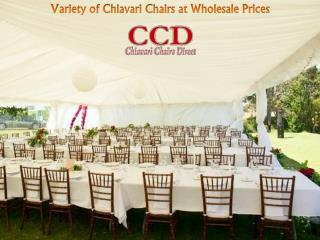 Variety of Chiavari Chairs at Wholesale Prices