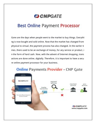 World Best online payment processor