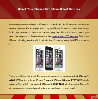 Unlock your iPhones with iPhone Unlock Services