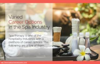 What are some career options in the spa industry?