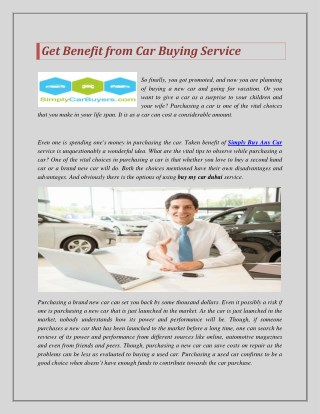 Get Benefit from Car Buying Service