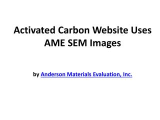 Activated Carbon Website Uses AME SEM Images