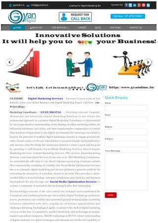 GYANDMC:Digital-Marketing-Services | Increase Traffic & Get  Return !