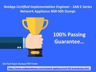 Verified Network Appliance NS0-505 Exam Questions - NS0-505 Dumps PDF RealExamDumps.com