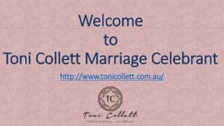 Toni Collett Marriage Celebrant | Sunshine Coast Marriage Celebrant