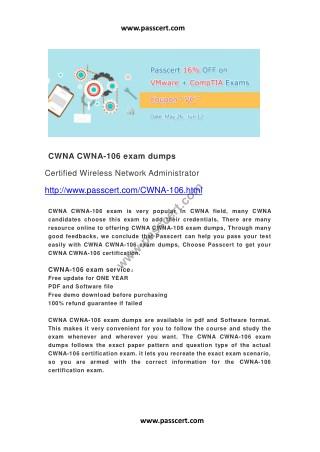 CWNA CWNA-106 exam dumps
