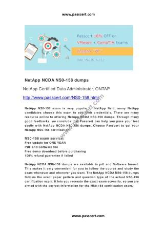 NetApp NCDA NS0-158 dumps