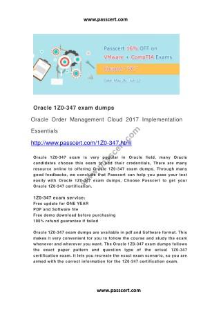 Oracle 1Z0-347 exam dumps