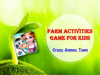 Farm Activities Game for Kids