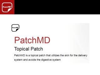 PatchMD presentation_vitamin d3_calcium patch