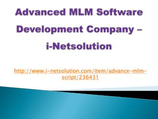 Advanced MLM Software Development, MLM Software Services, MLM Software Development Company