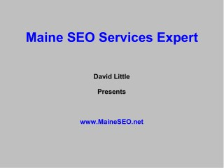 Maine SEO Services Expert