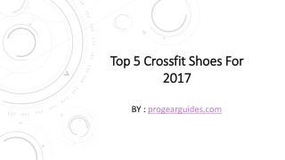 Best crossfit shoes for men 2017