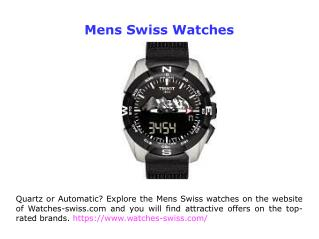 Swiss Watches Shop Online