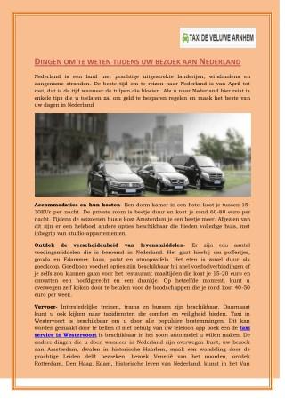 Comfort & Veiligheid Taxi Service Beschikbaar In Westervoort : Taxi de Veluwe Arnhem