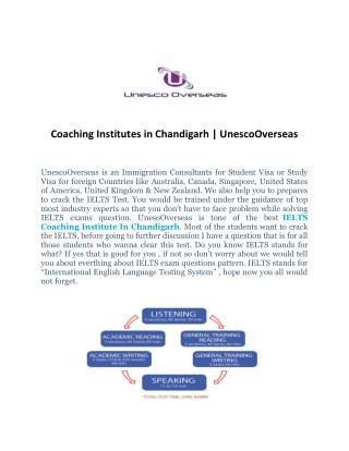 Best Coaching Institutes in Chandigarh | Unesco Overseas