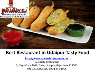 Best Restaurant in Udaipur Tasty Food