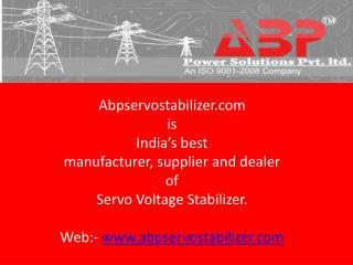 Servo Voltage Stabilizer Manufacturer & Supplier in Delhi