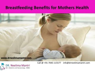 Breastfeeding Benefits for Mothers Health
