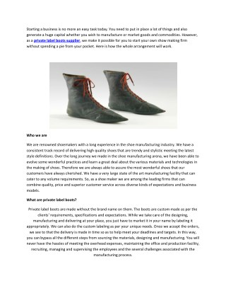 Start your footwear business with zero investment