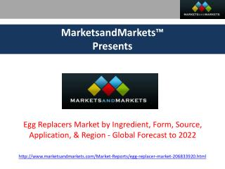 Egg Replacers Market - Global Forecast to 2022