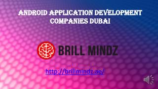 Android app development companies Dubai
