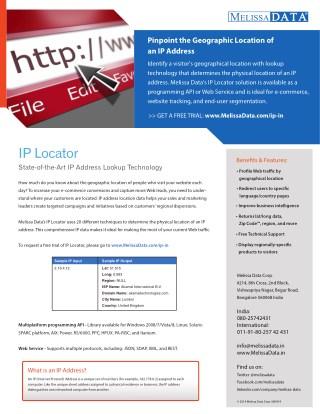 IP Address Locator in Australia - Melissa
