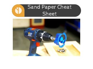 Sand Paper Cheat Sheet for Furniture Painting