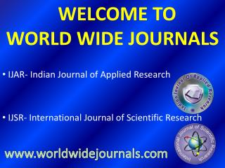 Indian Journal of Applied Research and International Journal of Scientific Research