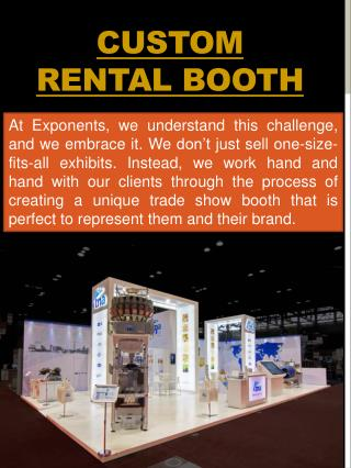 Custom Rental Booth