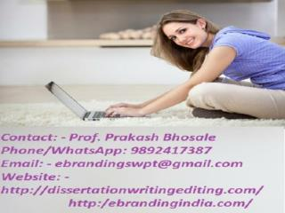 eBranding India in Nagpur is the Best of the Best PhD Thesis Writing Services