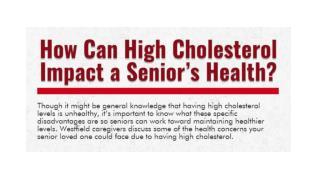How Can High Cholesterol Impact a Senior's Health?