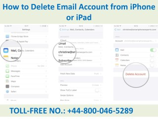 How to Delete Email Account from iPhone or iPad Call  44-800-046-5289