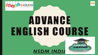 ADVANCE ENGLISH COURSE BY NSDM INDIA IN PUNE CITY