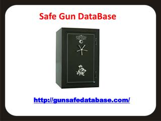 Gun Safe Database - The authority on gun safe information