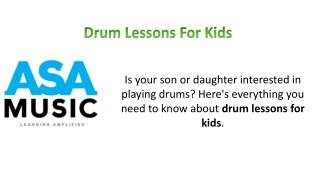 Drum Lessons for Kids - ASA Music Academy
