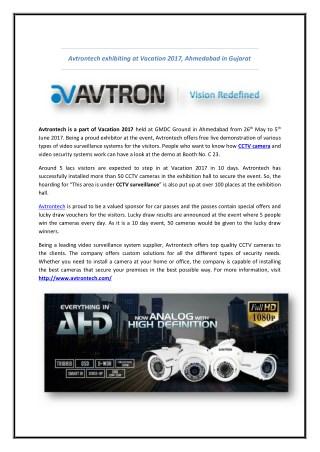 Avtrontech exhibiting at Vacation 2017, Ahmedabad in Gujarat