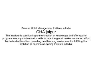 management of hospitality adminstration jaipur