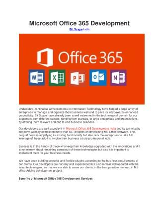 Microsoft Office 365 Development